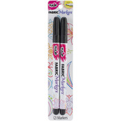 Black - Tulip Writer Fabric Markers 2/Pkg