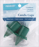 Green - Candle Cup W/Spike 2/Pkg