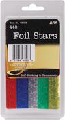 Assorted Colors - Foil Star Stickers 440/Pkg