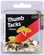 Goldtone 125/Pkg - Thumb Tacks
