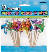 "Assorted Colors - Pinwheel Picks 4"" 12/Pkg"