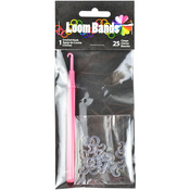 Loom Bands Plastic Hook W/25 C Clasps