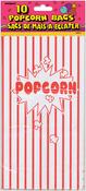 """Popcorn - Paper Party Bags 10""""X5.25"""" 10/Pkg"""