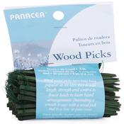 """Green - Wood Floral Picks 3"""" 90/Pkg"""