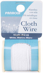 White - Cloth Covered Spool Wire 30'/Pkg
