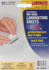 "Cleer Adheer Heavyweight Laminating Sheets 4""X5"" 4/Pkg"