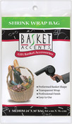 "Clear - Basket Accents Shrink Wrap Bag Medium 24""X30"" 1/Pkg"