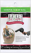 "Clear - Basket Accents Shrink Wrap Bag Large 30""X30"" 1/Pkg"