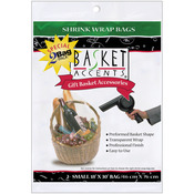 "Clear - Basket Accents Shrink Wrap Bags Small 18""X30"" 2/Pkg"