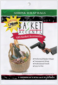 "Clear - Basket Accents Shrink Wrap Bags Medium 24""X30"" 2/Pkg"