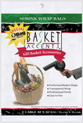 "Clear - Basket Accents Shrink Wrap Bags Large 30""X30"" 2/Pkg"