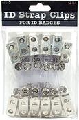 Clear - ID Strap Clip 12/Pkg