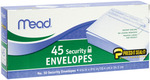 "Security #10 - Boxed Peel and Stick Envelopes 4.125""X9.5"" 45/Pkg"