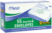 """Security #6 - Boxed Peel and Stick Envelopes 3.625""""X6.5"""" 55/Pkg"""
