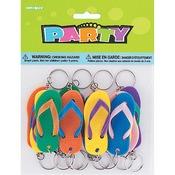 Flip-Flop Key Chains - Party Favors 12/Pkg
