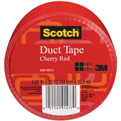 Cherry Red - Scotch Solid Color Duct Tape 1.88:x20yd