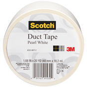 Pearl White - Scotch Solid Color Duct Tape 1.88:x20yd