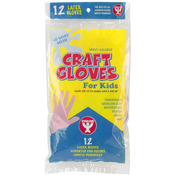 Assorted Colors - Kids Craft Gloves 12/Pkg