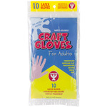 Assorted Colors - Adult Craft Gloves 10/Pkg