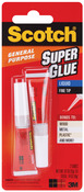 .07oz - Scotch Super Glue Liquid 2/Pkg