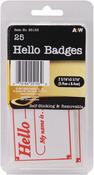 """Hello Badges 2.3125""""X3.3125"""" 25/Pkg - Labels"""