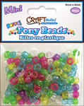 Sparkle Multicolor Mix - Mini Barrel Pony Beads 6mmX4mm 300/Pkg