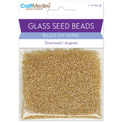 Gold - Glass Seed Beads 12/0 Silver Lined 60g/Pkg