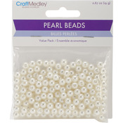 6mm Ivory 185/Pkg - Pearl Beads Value Pack