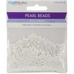3mm White 850/Pkg - Pearl Beads Value Pack