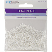3mm White 850/Pkg - Pearl Beads Value Pack