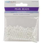 5mm White 265/Pkg - Pearl Beads Value Pack