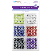 Assorted Colors - Glimmer Acrylic Disco Ball Bead Variety Pack 96/Pkg