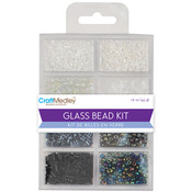 Black & White Classic - Glass Bead Kit 45g/Pkg
