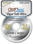 Silver - Tiger Tail Beading Wire 7-Strand .45mm 39'/Pkg
