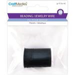 Black - Metallic Beading & Jewelry Wire 28 Gauge 32'/Pkg