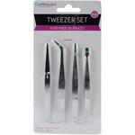 Tweezer Set 4pcs