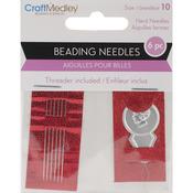 Beading Needles Size 10 6/Pkg W/Threader