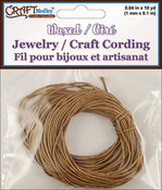 Dark Natural - Jewelry Craft Round Waxed Cording 1mm 30'/Pkg