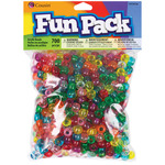 Transparent Rainbow - Fun Pack Acrylic Pony Beads 700/Pkg