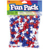 Red, White, and Blue - Fun Pack Acrylic Pony Beads 700/Pkg