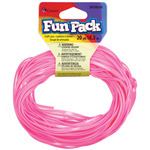 Pink - Fun Pack Plastic Craft Lace 20yd/Pkg