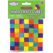 """Colored - Craftwood Wooden Cubes .625"""" 36/Pkg"""