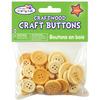 Natural - Craftwood Assorted Craft Buttons 40/Pkg