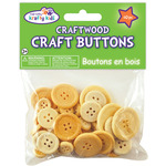 Natural - Craftwood Assorted Craft Buttons 40/Pkg