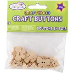 Butterflies - Craft Shaped Natural Buttons 25/Pkg