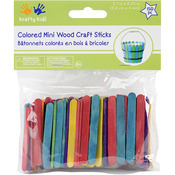 "Colored 2.125"" 150/Pkg - Mini Popsicle Sticks"