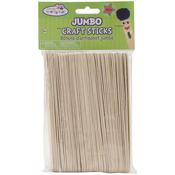 "Natural 6"" 50/Pkg - Jumbo Craft Sticks"