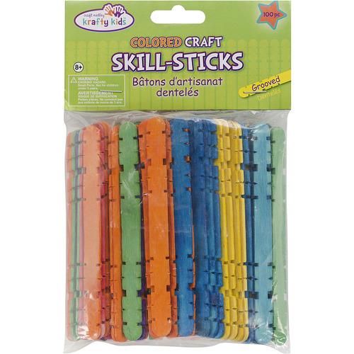 "Extra Jumbo Craft Sticks-Colored 7.875/"" 24//Pkg"
