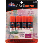 Clear - Elmers Craftbond All Purpose Glue Sticks .21oz 4/Pkg