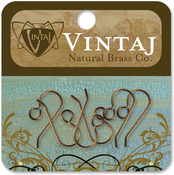 French 20mmX10mm - Vintaj Metal Ear Wires 6/Pkg